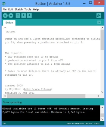 Arduino Script - Button