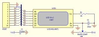 Skema DI-Smart LCD16x2 Board